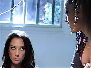 Bad woman Capri Cavanni gets disciplined by Dani Daniels