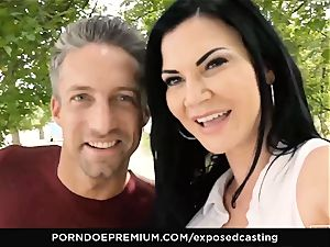 exposed casting Jasmine Jae drilled in super-hot casting