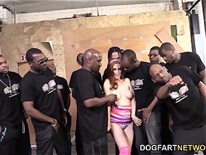 Penny Pax deep-throats 13 fat black spunk-pumps
