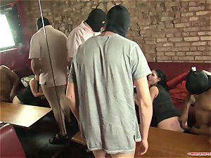 Michelle Thorne and youthfull mega-bitch gang-bang nail with gang