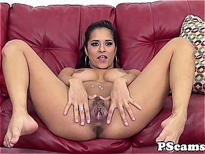 Abby Lee Brazil cumswallows on webcam demonstrate