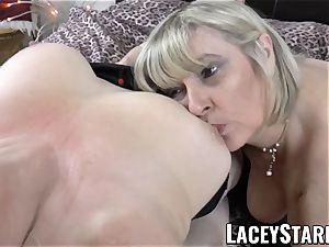 LACEYSTARR - 2 big-boobed grandmas pleasing one successful schlong