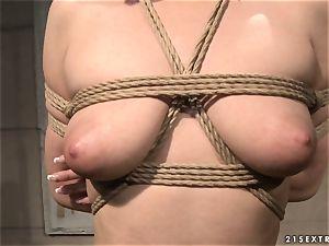 Katy Borman get her killer naked body clamped