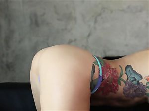 Karma Sn two with spectacular tattooed stunner Monique Alexander