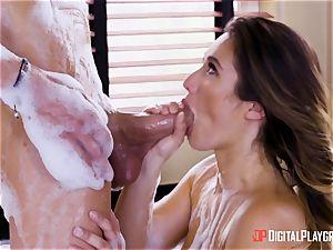 Eva Lovia covets a massive lollipop down her minge
