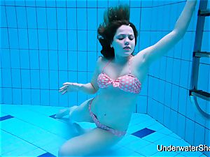 sexy lady shows fantastic body underwater