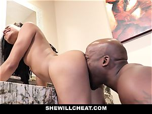SheWillCheat - cheating wife fucks big black cock in shower