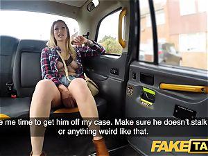 faux cab Ava Austen in hot wild taxi pound