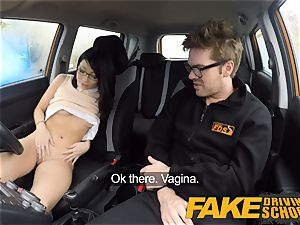 fake Driving school half chinese lil' student ravages