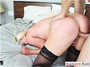 Smoking steaming Nikki Benz delectations beef whistle with excellent zeal