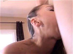 Pint sized Sara Luvv penetrates her fathers buddy