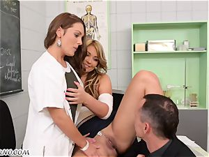 anal intercourse with two nurses Dominica Phoenix and Lana in the medical center
