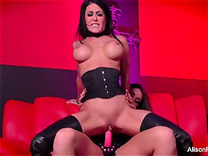 crimson room and super-steamy strap-on act