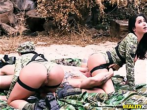 Angela milky, Karlee Grey - super-hot army sluts with enormous udders