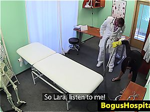 Office worker takes the doctor's man rod in her awaiting vagina