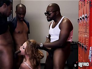 teacher Britney Amber gets a private blowbang with BBCs