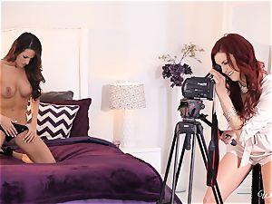 Jayden Cole tempts super-sexy audition chick Kortney Kane