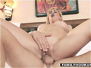 FamilyHookups - warm platinum-blonde Stepmom plumbs Her Stepson
