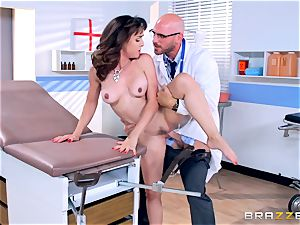 Cytherea is left squirting as she visits the doctor