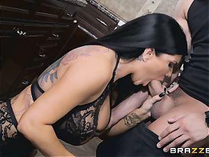 Romi Rain and Aubrey ebony drill after Romi blows Xander