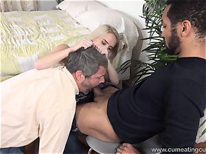 Cadence Lux Makes honeypot husband slurps folks spunk