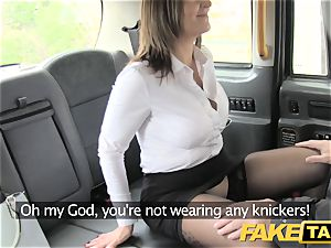 faux cab office damsel in stockings ass licking anal fuckfest
