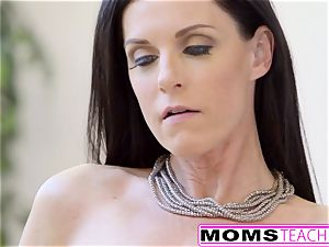 MomsTeachSex - steaming Step-Mom And nubile Get filthy facial cumshot
