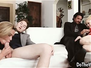 super-fucking-hot towheaded wifey Subil arch tears up in front of hubby