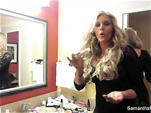 hotty Samantha's behind the gigs footage