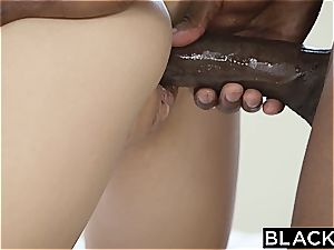 BLACKED kinky Naomi forest Takes first-ever big black cock
