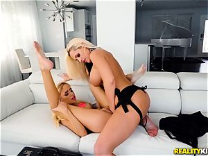 Alena Croft and Naomi woods coochie ravaging action