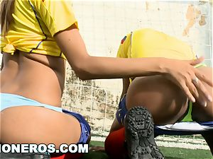 CULIONEROS - sexy Latina Soccer Players with phat donks