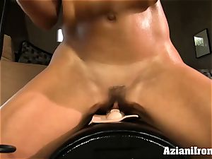 Brandi enjoy rails the sybian saddle naked