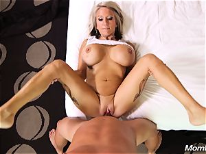 enormous boobs cougar gets assfuck plow and facial cumshot