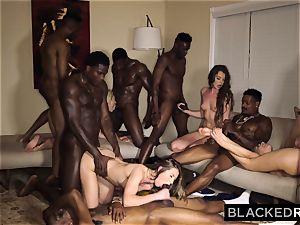 BLACKEDRAW four college gals In insane big black cock gang-fuck