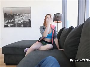 Spanish chick from next door riding my shaft