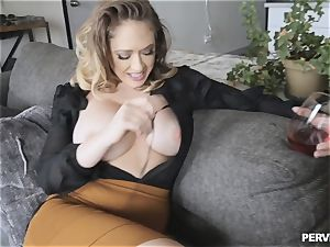 Stepmom Kagney Linn Karter anxious for sons-in-law thick pink cigar