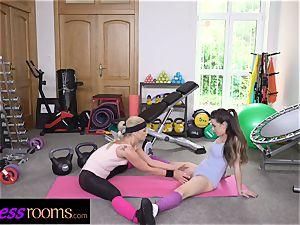 fitness rooms fuck-stick greedy Italian and Czech dolls