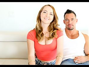 flamy ginger-haired Leigh Rose hopes this anal penetrate goes smooth