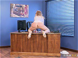 Britney Amber takes prick at work
