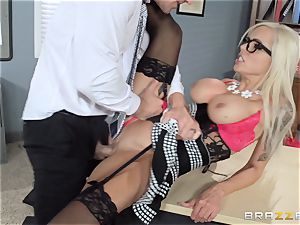 scorching manager Nina Elle tempts her employee