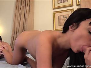 Anissa Has Her hubby deepthroat fuck-stick While She smashes