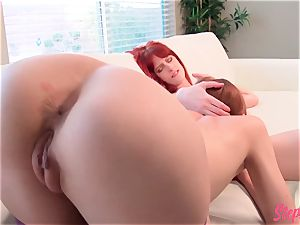 ultra-kinky ginger-haired Stepsisters warm all girl activity