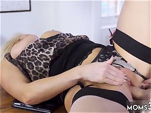 hefty boobies mother Having Her Way With A new-cummer