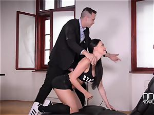 Kayla Green, Aletta Ocean - porn romp with tutors and students in the college after lesson