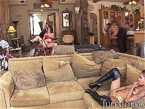 Jules Jordan - immense dark-hued meatpipe intercourse With Riley Reid