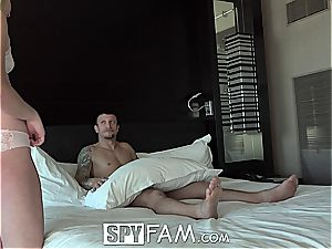Bratty stepsister is hungry for bro's manmeat