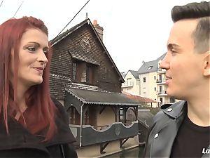LA beginner - kinky French sweetheart gets jism on orbs