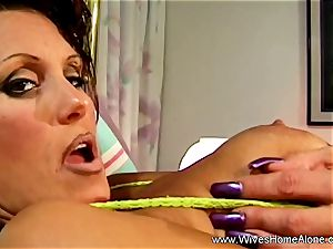 splendid Housewife Alone And wanking
