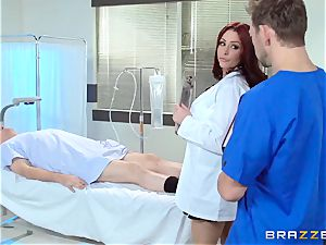 gorgeous doctor Monique Alexander tears up her trainee